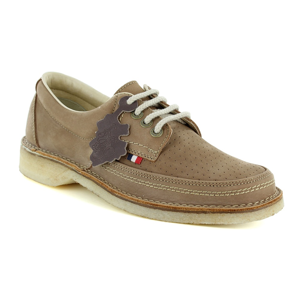 Pod Heritage Gallagher Mens Leather 4-Eyelet Shoes - Camel Brown