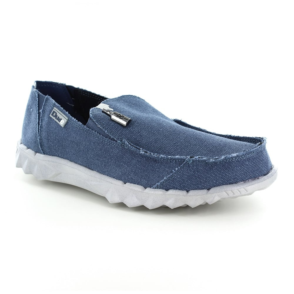 Hey Dude Farty Mens Canvas Slip-on Shoes - Sea Blue