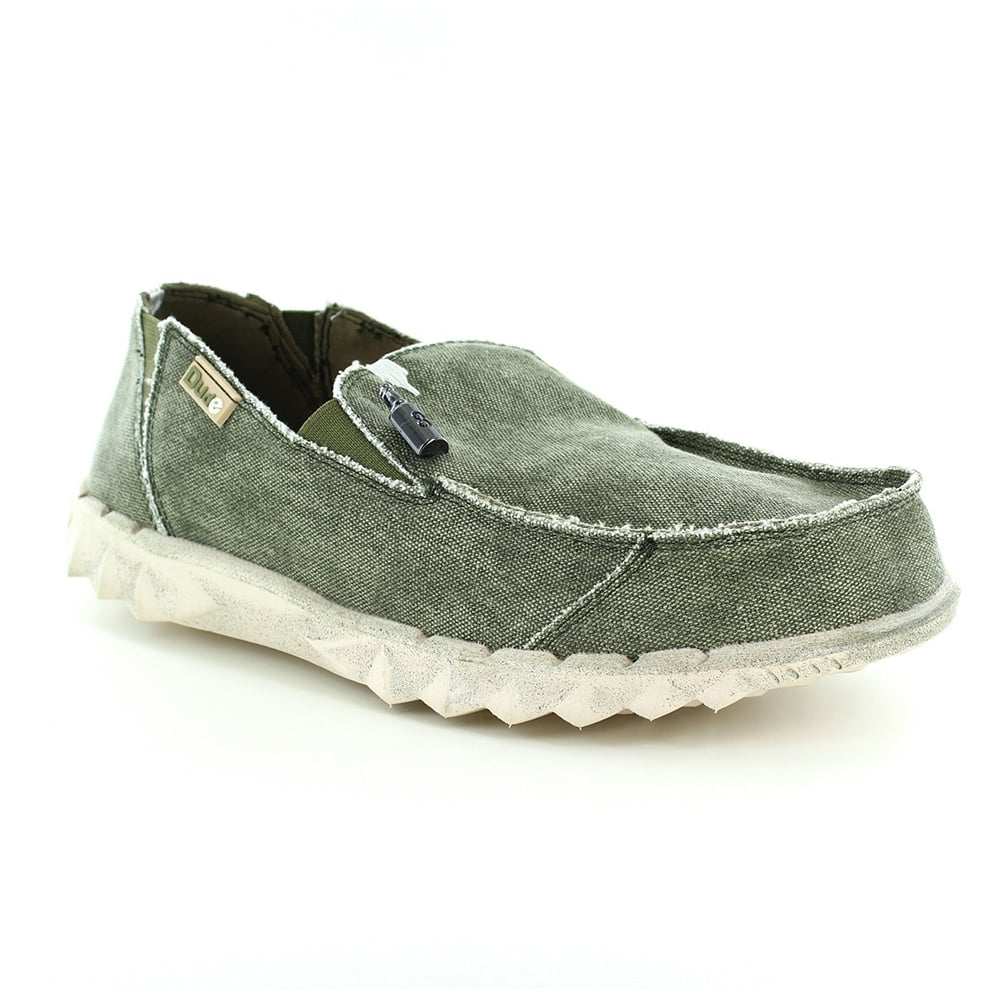 Hey Dude Farty Mens Canvas Slip-on Shoes - Sage