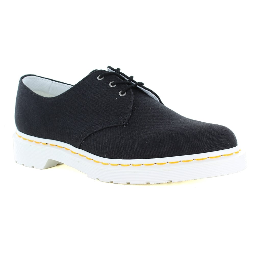 Dr Martens Lester Unisex Canvas Lace-Up Shoes - Black