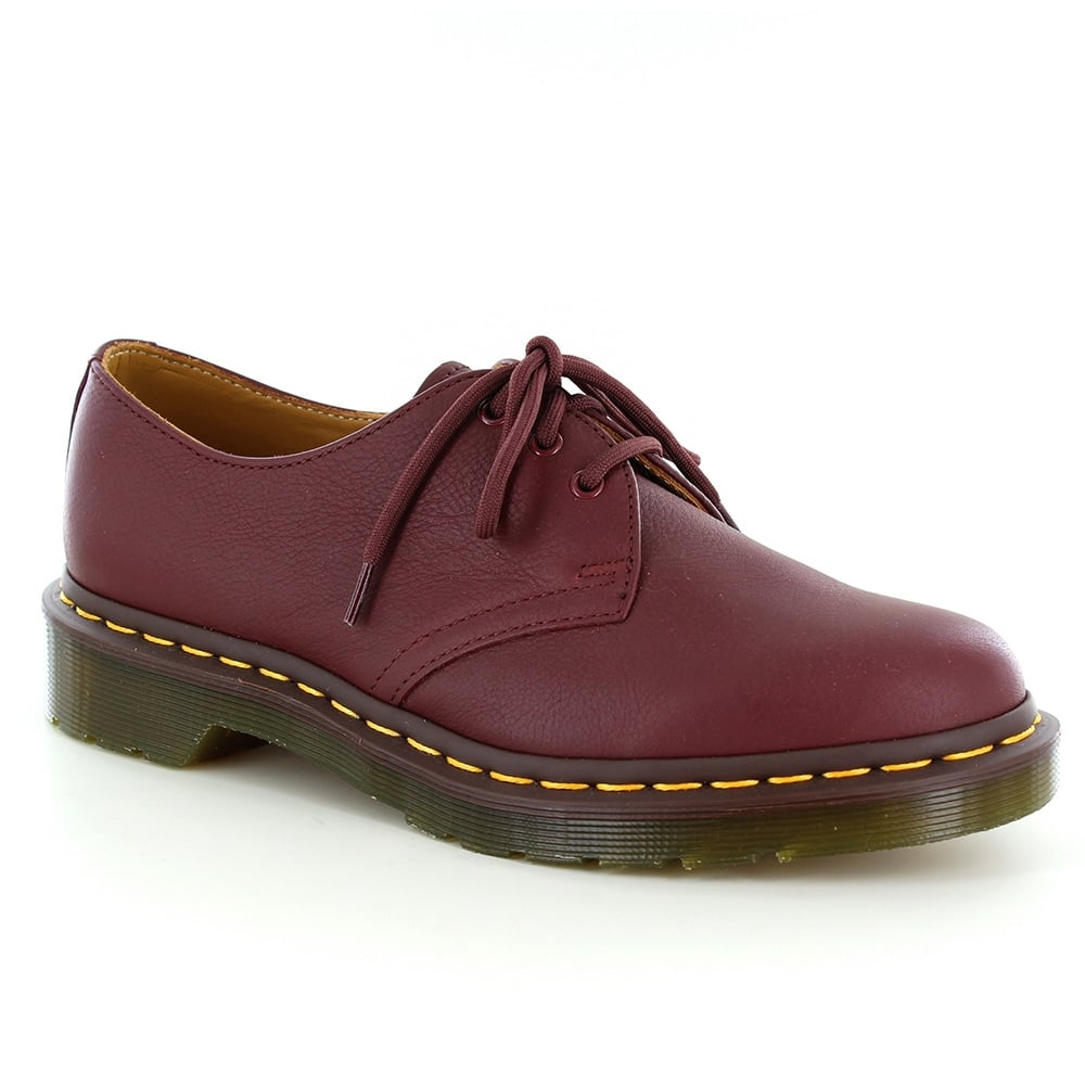 Dr Martens 1461 Womens Leather Shoes - Cherry Red