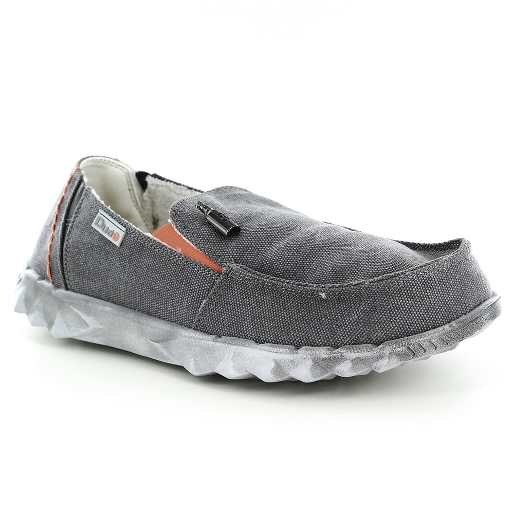 Hey Dude Farty Chalet Mens Warm Lined Canvas Casual Slip-On Shoes - Grey