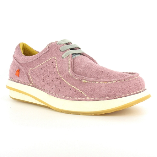 Art Jogging Caramelo W260 Womens Suede Leather 3-Eyelet Shoes - Rose Purple