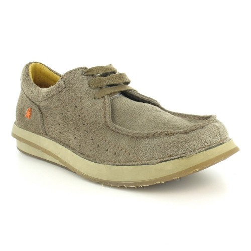 Art Jogging Adventure W260 Suede Leather Mens Loafer Shoes - Taupe Beige