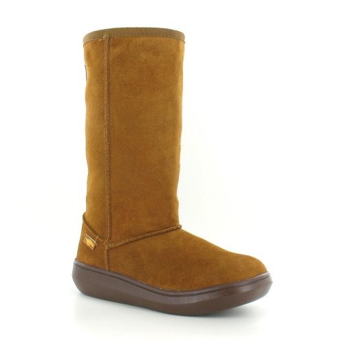 Rocket Dog Sugar Daddy Womens Suede Mid-Calf Pull-Up Flat Boots - Chestnut