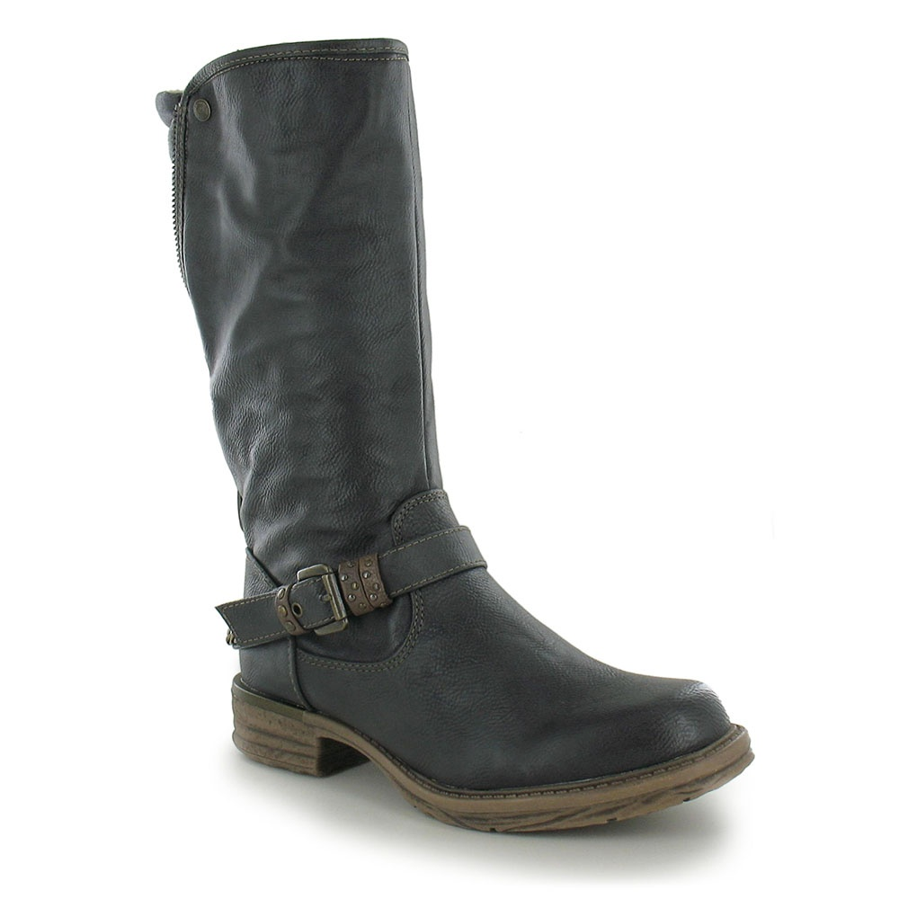 Mustang 1168-606-259 Womens Warm Lined Mid Calf Boot - Graphite Grey