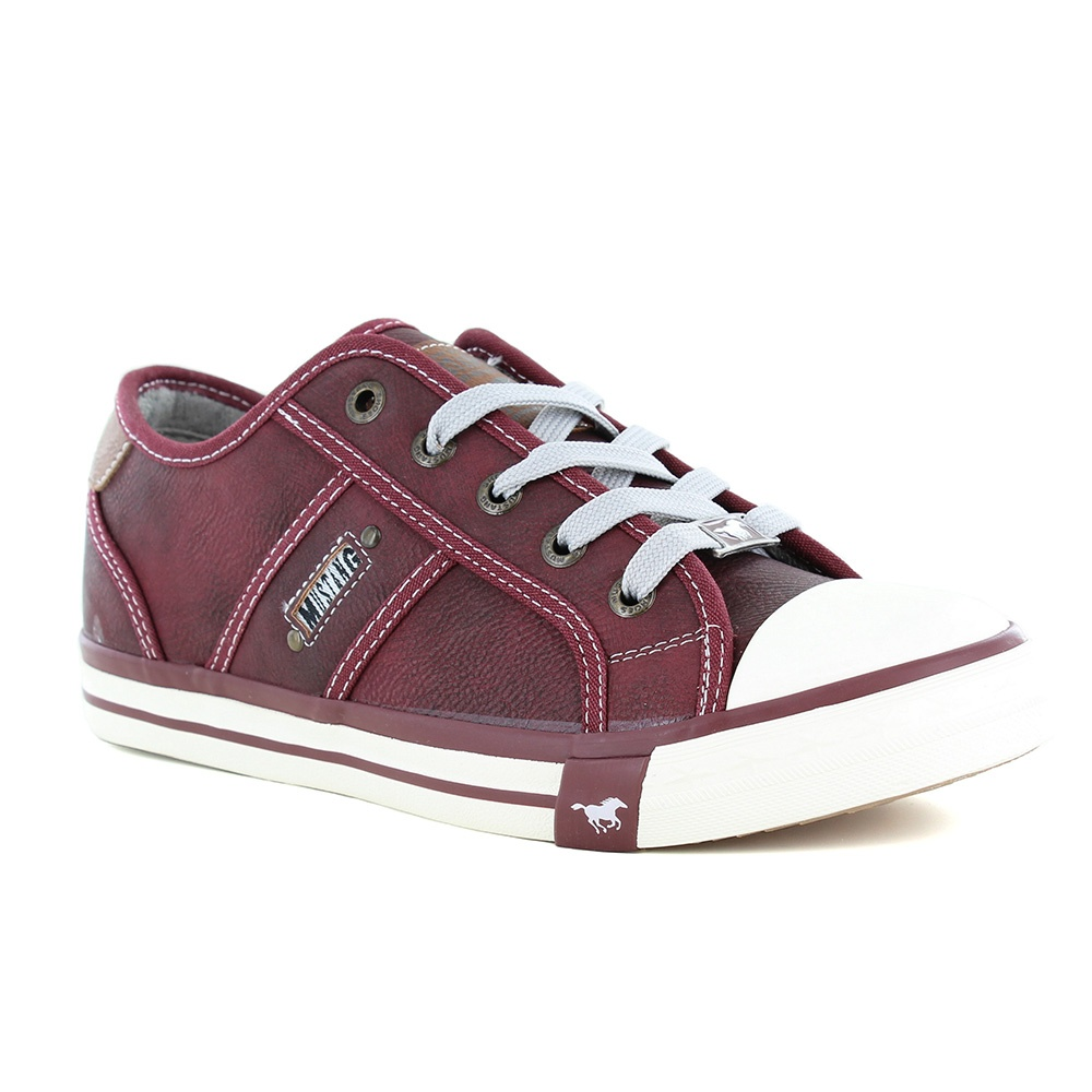 Mustang 1209-301-55 Womens Fashion Trainers - Bordeaux Red