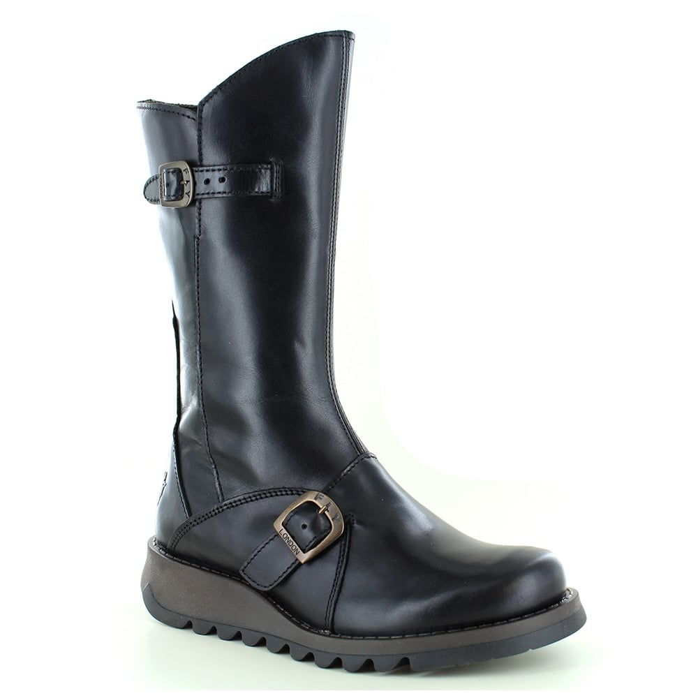 Fly London Solv Womens Leather Mid Calf