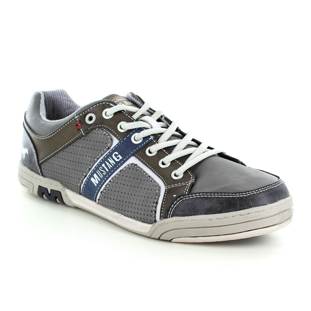 Mustang 4064-311-2 Mens Trainer Shoes - Grey
