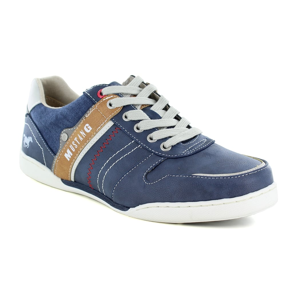 Mustang 4099-303-800 Mens Trainer Shoes - Dark Blue
